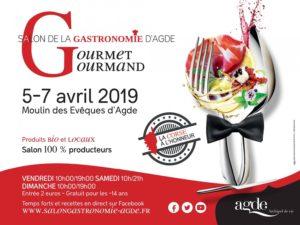 Affiche du salon de la Gastronomie d'Agde : Groumet Gourmand